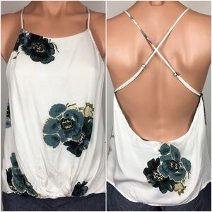 UO   Silence + Noise   Floral Tank   White   M